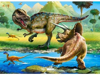 Puzzle Tyranosaurus vs. Triceratops 70 dílků