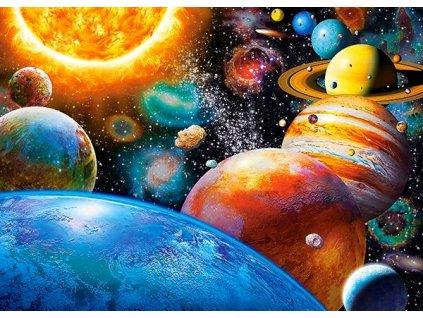 Puzzle Planety a jejich měsíce 180 dílků
