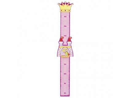 Dětský dřevěný metr – princ a princezna 1