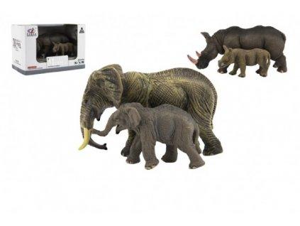 Zvířátka safari ZOO  sada 2ks 2 druhy