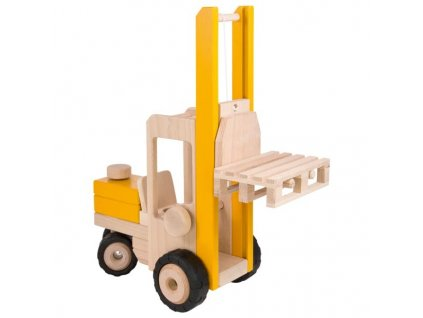 Vysokozdvižný vozík ještěrka, hračka ze dřeva 2