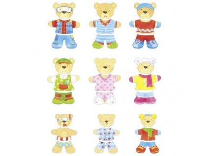 Šatní skříň – medvědí rodinka, 18 motivů, 54 díly 1