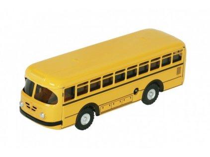 Autobus retro na klíček kov žlutý