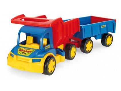 Auto Gigant Truck sklápěč + dětská vlečka