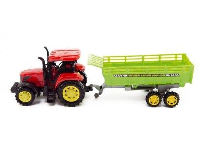 Traktor s vlekem na setrvačník