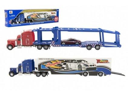 Kamion s návěsem 37cm kov/plast 2 druhy