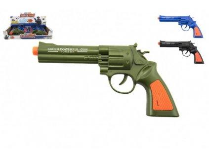 Pistole kolt 22cm na baterie se zvukem 2 barvy