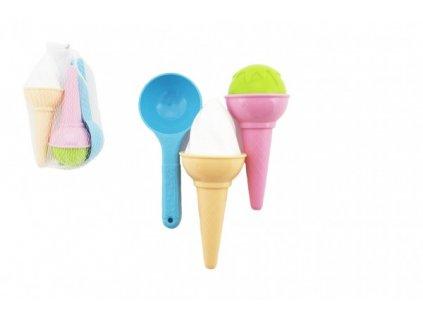 Formičky Bábovky na písek zmrzlina 3ks
