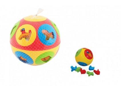 Vkládačka míč 2 barvy 13cm