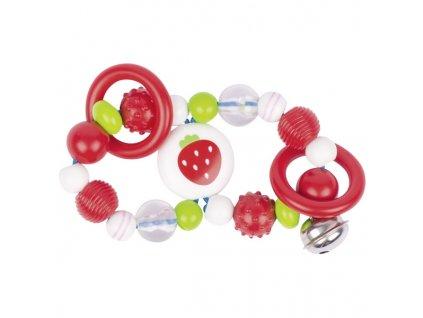 Plastová hračka do ruky – osmička jahůdka