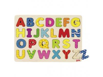 Dřevěné puzzle na desce – Abeceda II, 26 dílů