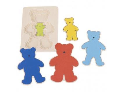 Vícevrstvé puzzle – Medvěd