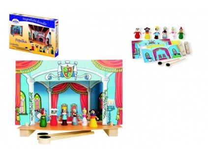 Divadlo Popelka magnetické dřevěné s figurkami