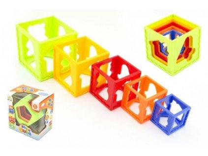 Kubus pyramida skládanka hranatá 5ks