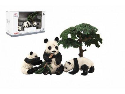 Zvířátka safari ZOO  sada 4ks panda 2 druhy