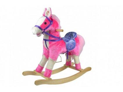 Houpací kůň růžový na baterie se zvukem a pohybem