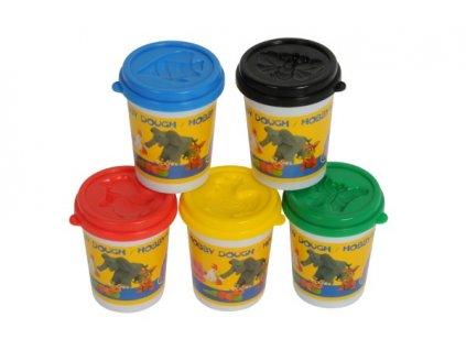 Modelína/Plastelína v kelímku 5ks mix barev