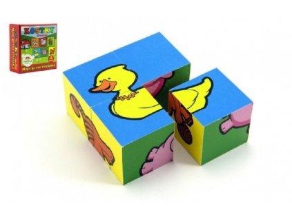 Kostky kubus čtyřkostka Moje první zvířátka 4ks