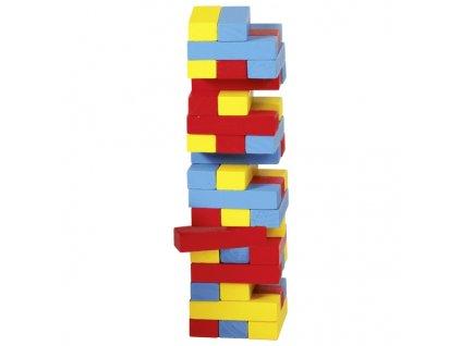 Zábavná hra Vratká věž Jenga barevná, 45 dílů