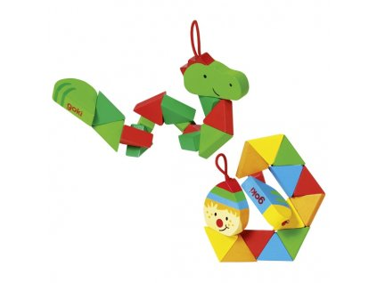 Puzzle skládačka krokodýl a klaun