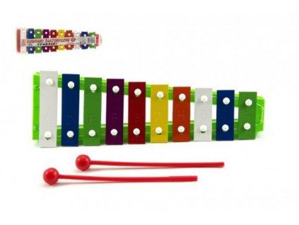Xylofon + 2 paličky 3 barvy