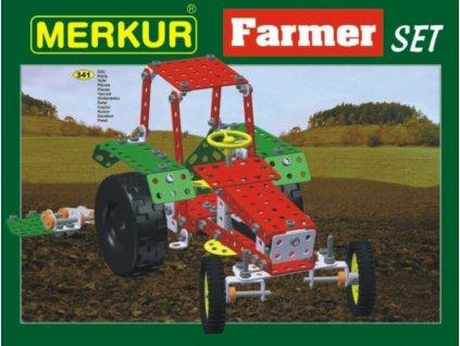 Stavebnice MERKUR Farmer Set 20 modelů 341ks