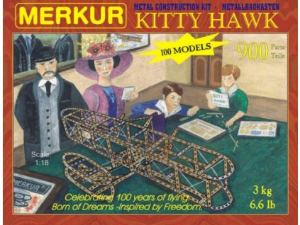 Stavebnice MERKUR Kitty Hawk 100 modelů 900ks