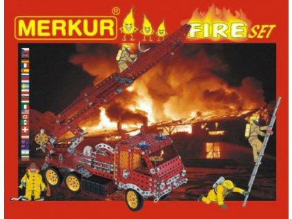 Stavebnice MERKUR FIRE Set 20 modelů 708ks 2 vrstvy