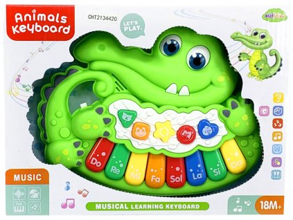 Pianko krokodýl se zvukem a světlem