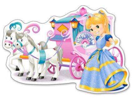 Puzzle Kočár pro princeznu MAXI 12 dílků