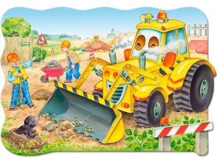 Puzzle Buldozer v akci