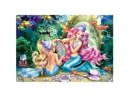 Puzzle Mořská panna a perly 120 dílků
