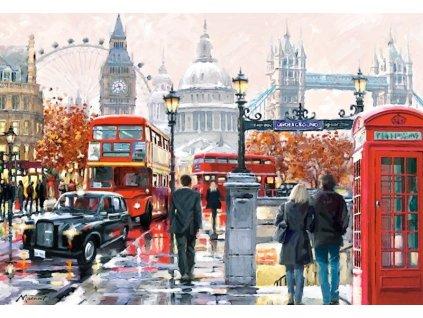 Puzzle Londýn (malované) 1000 dílků