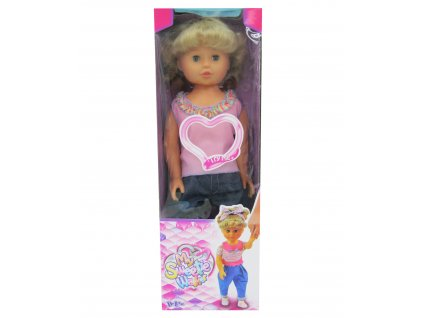 Chodící panenka menší 52cm