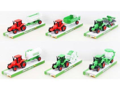 Plastový traktor s příslušenstvím mix druhů