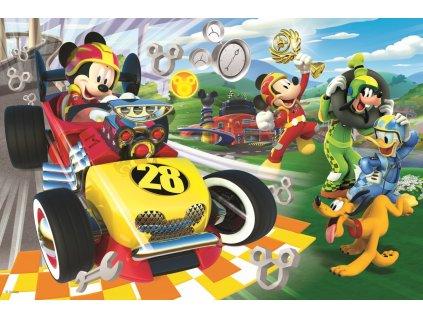 Puzzle Mickey a závodníci 60 dílků