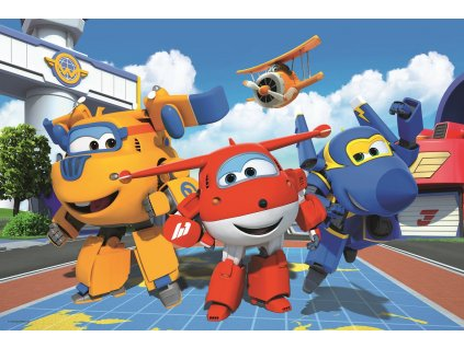 Puzzle Super Wings Veselá letadla MAXI 24 dílků