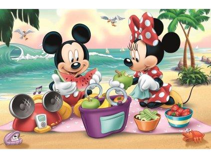 Puzzle Mickey a Minnie na pláži MAXI 24 dílků
