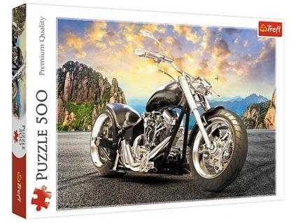 Puzzle Černá motorka 500 dílků