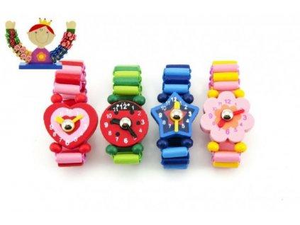 Dřevěné hodinky náramkové 4 druhy