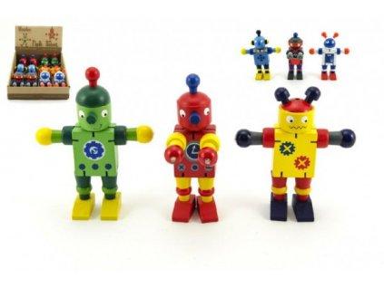 Dřevěný Robot 6 druhů