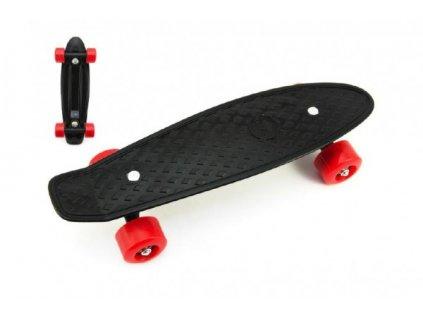 Skateboard - pennyboard černý, červená kola