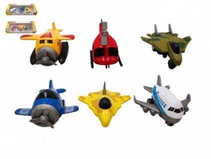 Letadlo 3ks na zpětné natažení 2 druhy