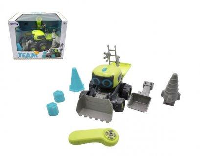 Auto/Stavební stroj RC na baterie s doplňky