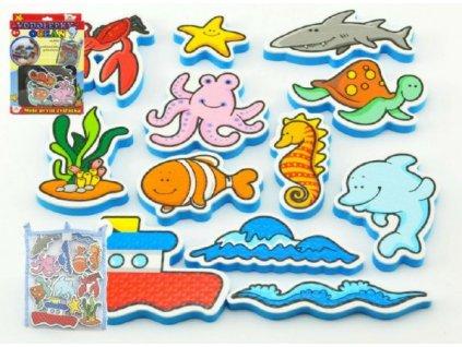Vodolepky Moje první zvířátka oceán pěnová sada 12ks