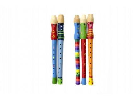 Flétna malovaná 33cm mix barev