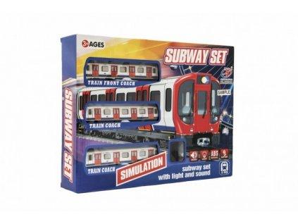 Metro/vlak/tramvaj s kolejemi na baterie se světlem se zvukem