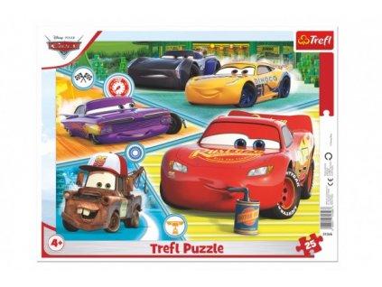 Puzzle deskové Auta 3/Cars 3/Dobrý tým 25 dílků