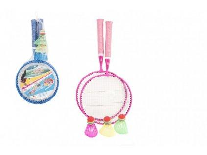 Badminton sada dětská 2 pálky + 3 košíčky 2 barvy