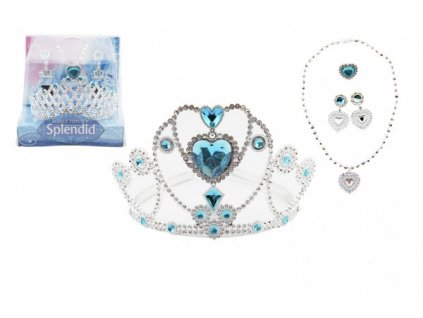 Sada krásy korunka, náhrdelník, naušnice, prsten 5ks mix druhů
